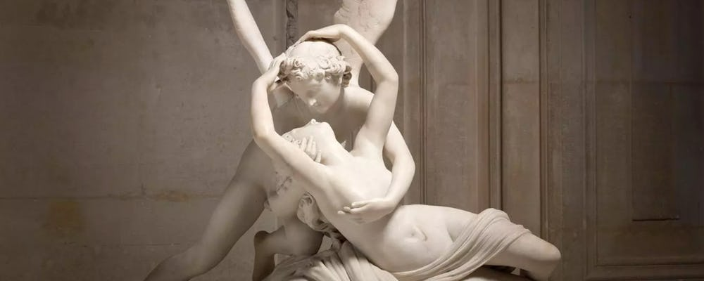 Louvre Psyche Revived by Cupid's Kiss