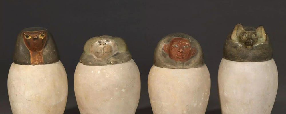 Louvre four canopic jars