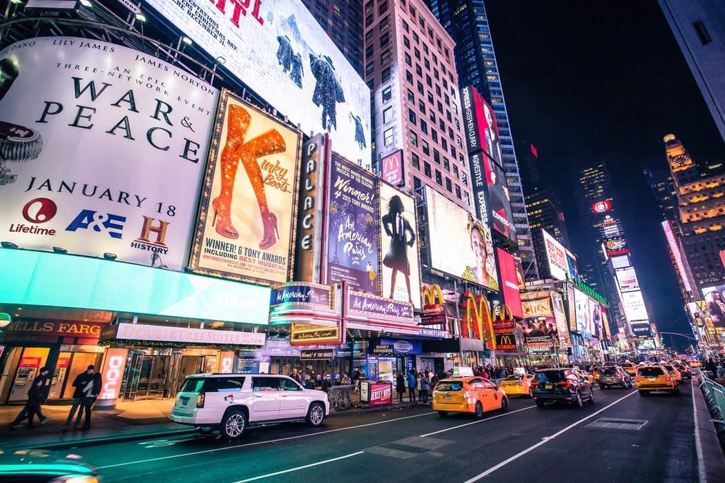 New York in june- Broadway Show