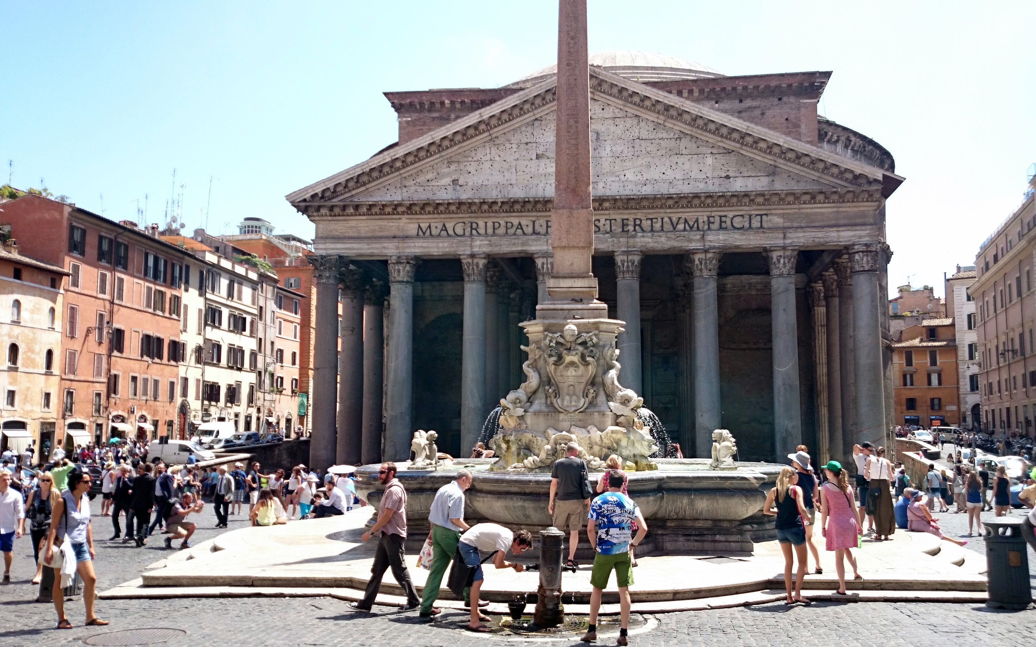 pantheon & underground of santa maria in via lata walking tour - express entry-1