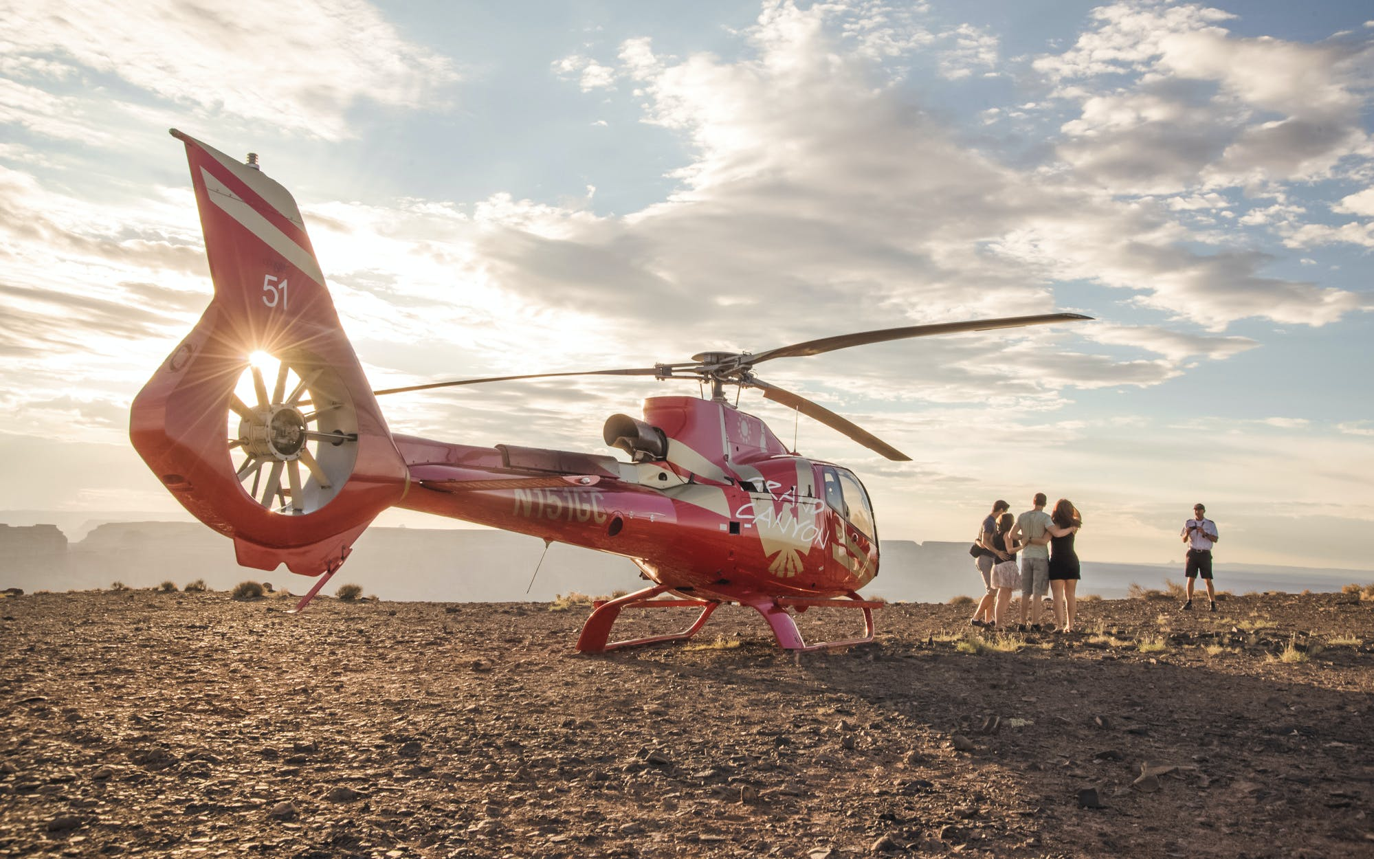 Grand Canyon Helicopter Tour with Landing & Champagne Picnic