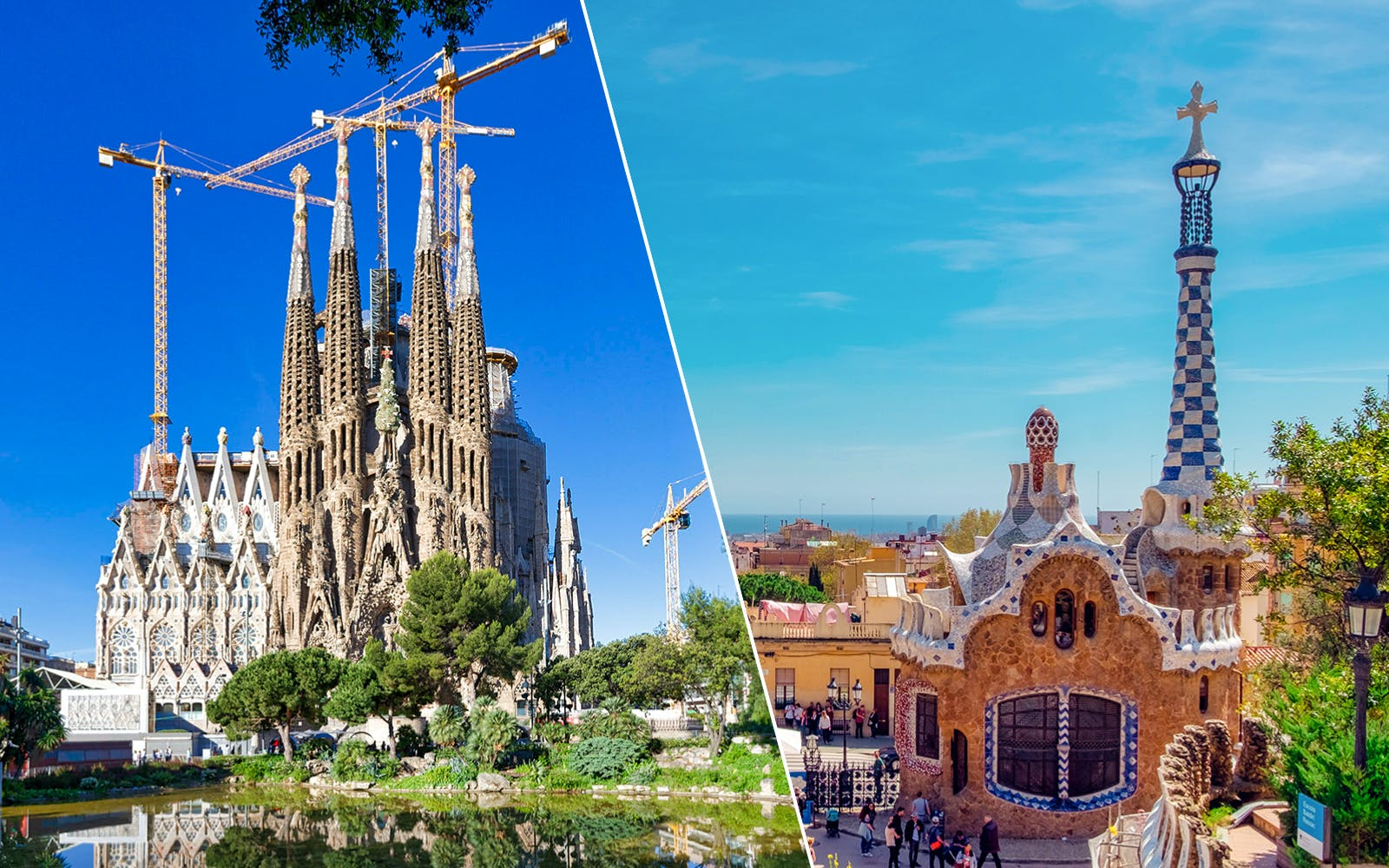 Guided Tour of Sagrada Familia and Park Güell with No Wait Entry