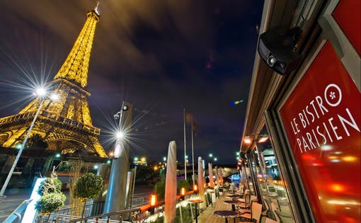 Dinner at Le Bistro Parisien + Optional Seine River Cruise