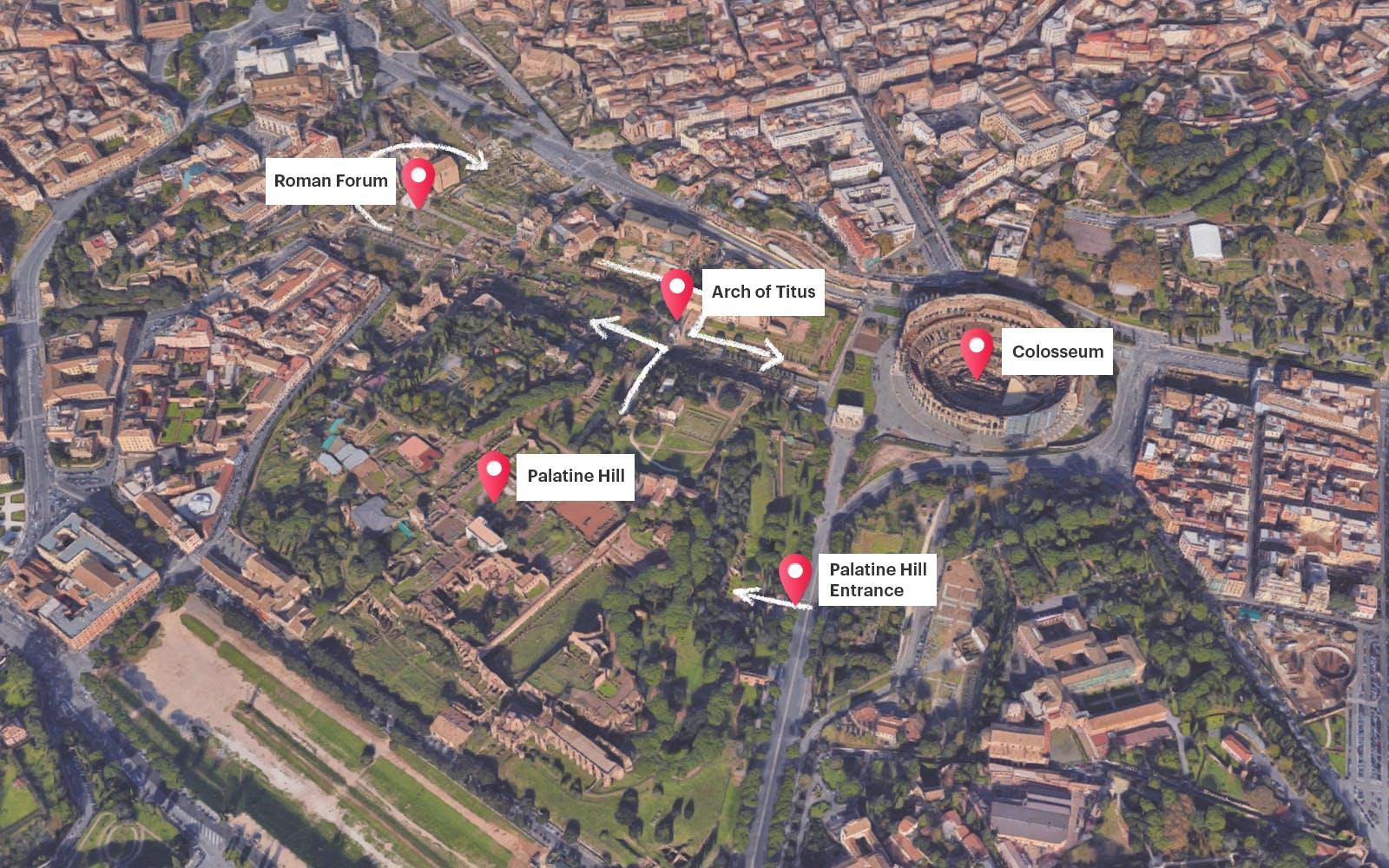 rome skip the line - colosseum, roman forum, palatine hill