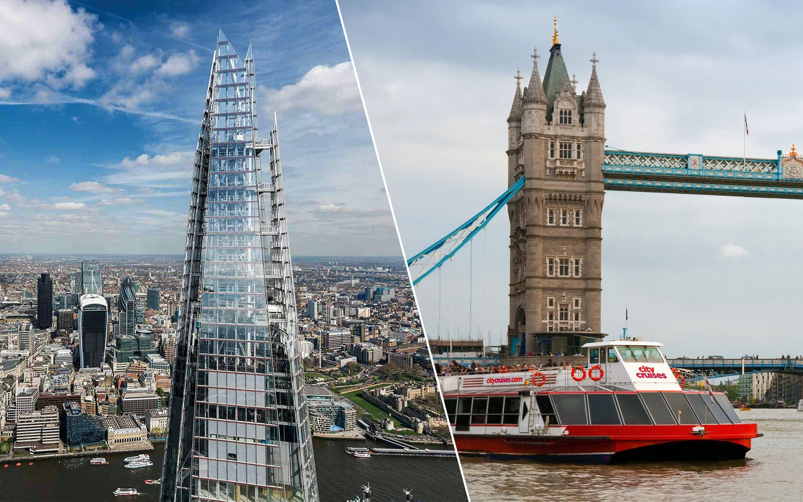 The View From the Shard Tickets and 24 Hours Thames River Cruise Combo