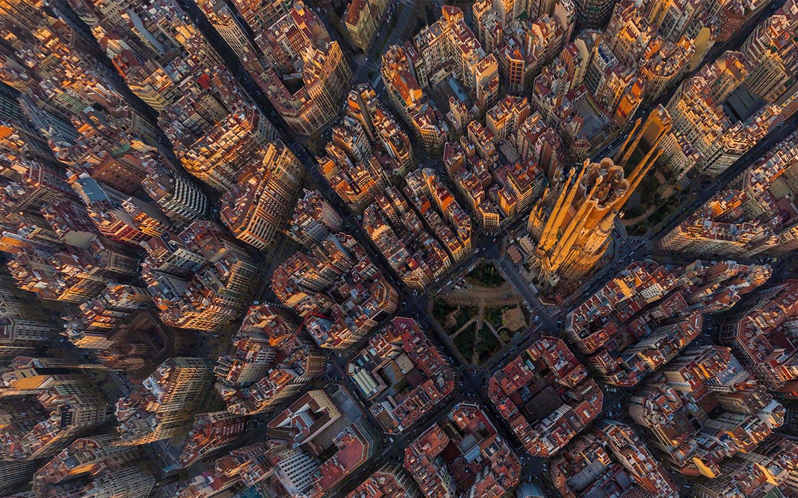 Barcelona in April