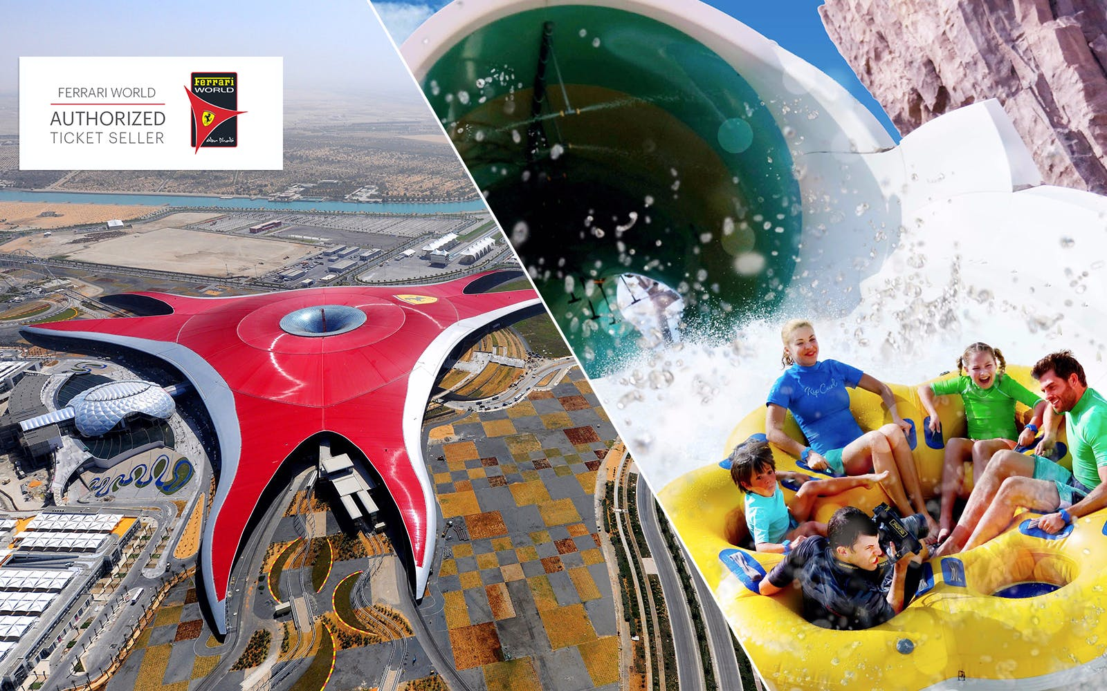 Ferrari World and Yas Waterworld Gold Pass