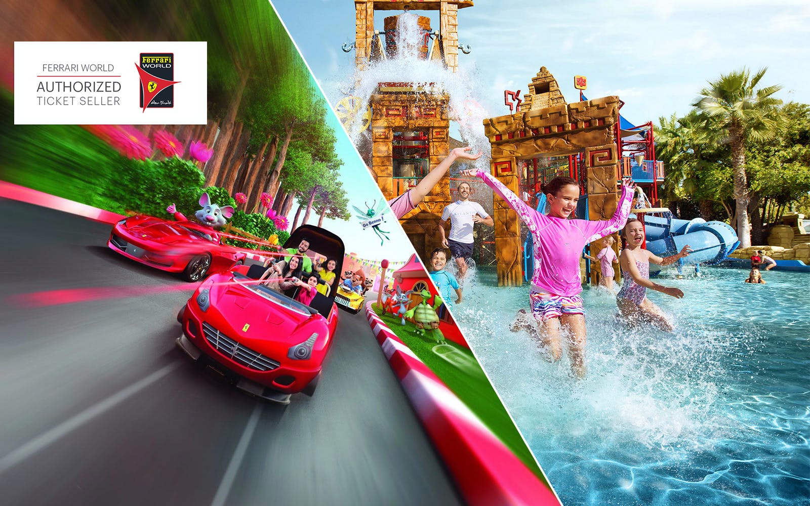 Ferrari World and Yas Waterworld: 2 Day Gold Pass
