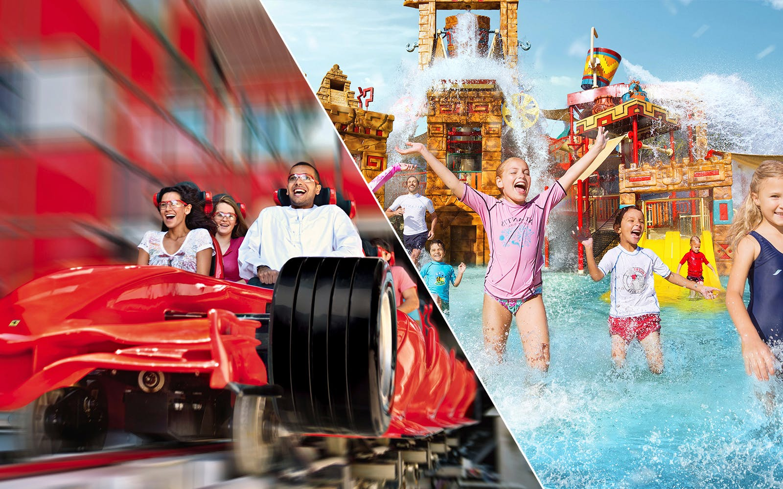 Ferrari World and Yas Waterworld: 2 Day Silver Pass