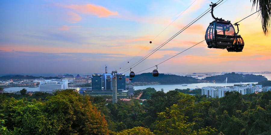 Singapore in August - cable car