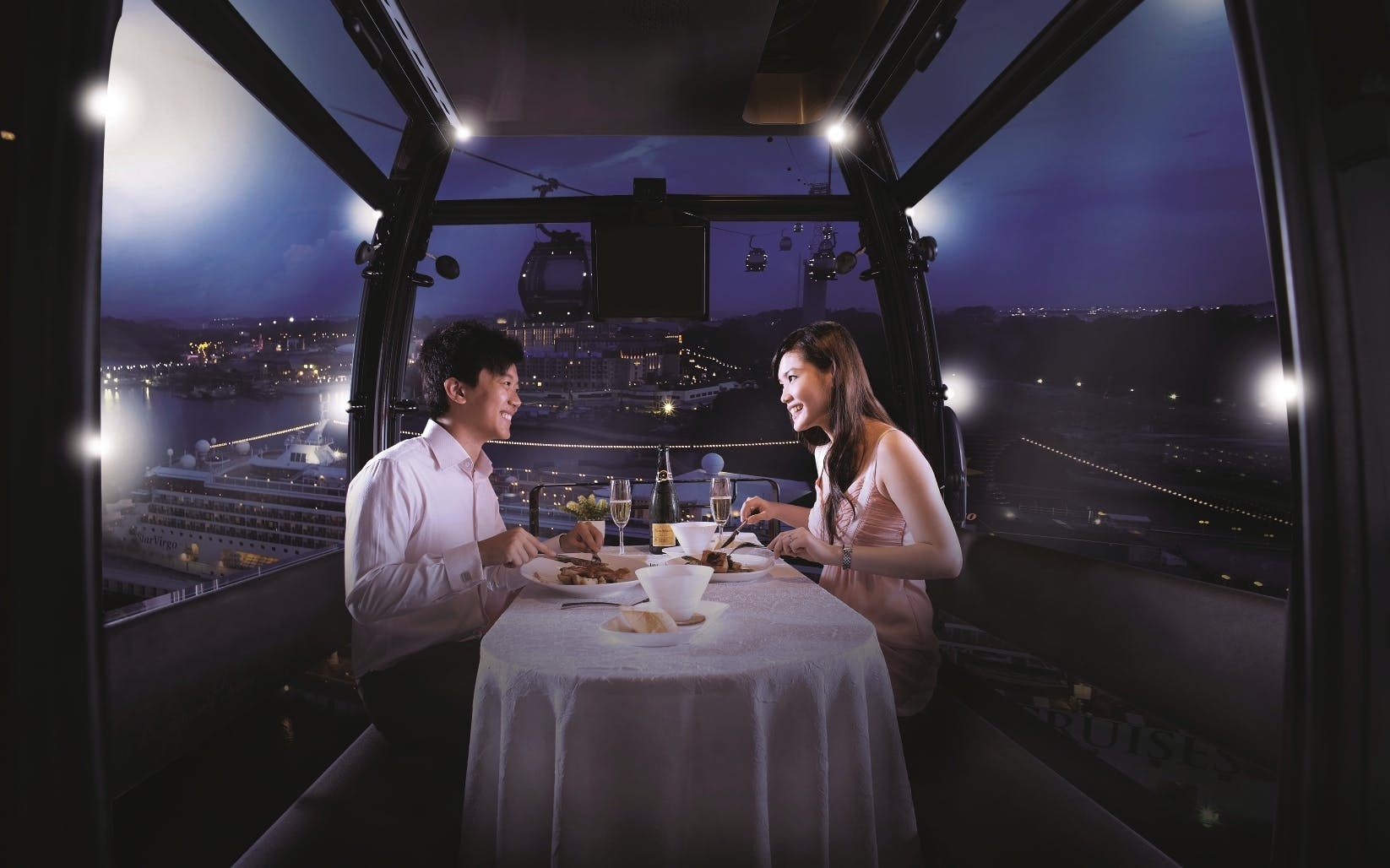 Singapore Cable Car Dining Experience