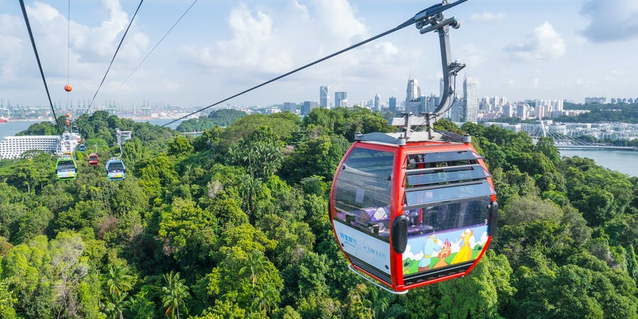 Singapore in July - cable car