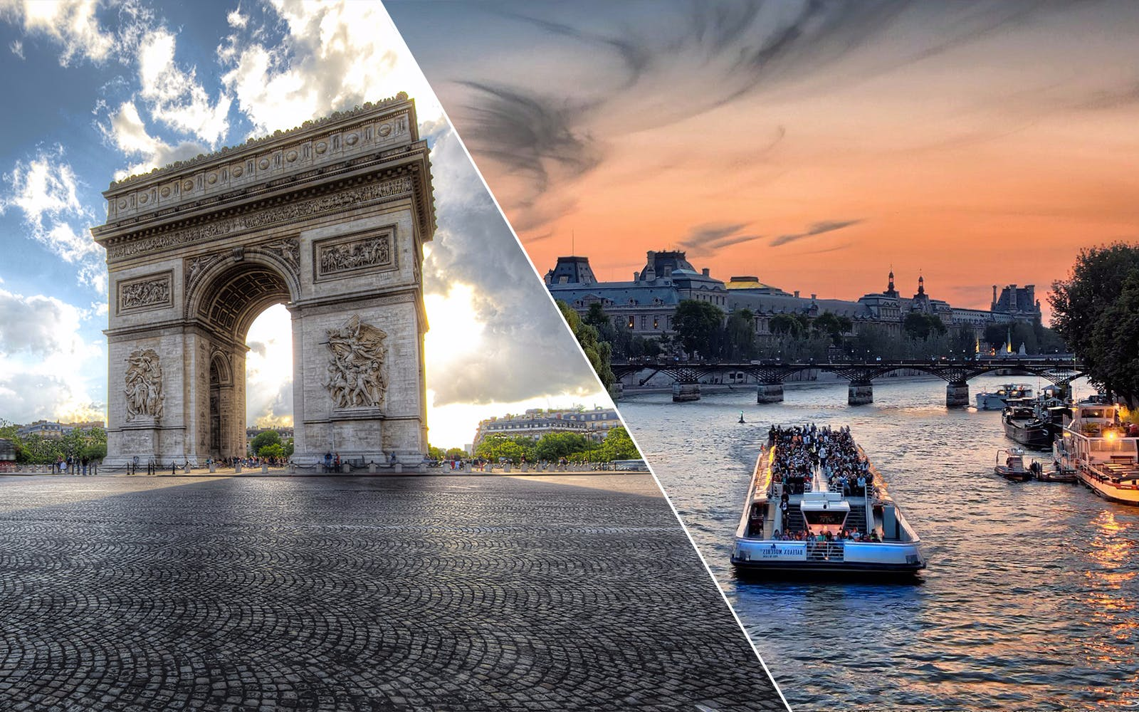 Skip the Line: Arc de Triomphe with Rooftop Access + Seine River Cruise Combo