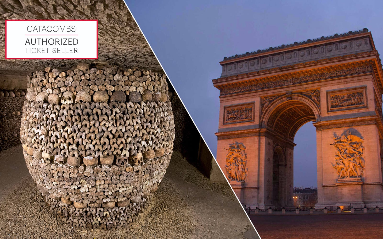Skip the Line: Catacombs & Arc de Triomphe Rooftop Access Combo