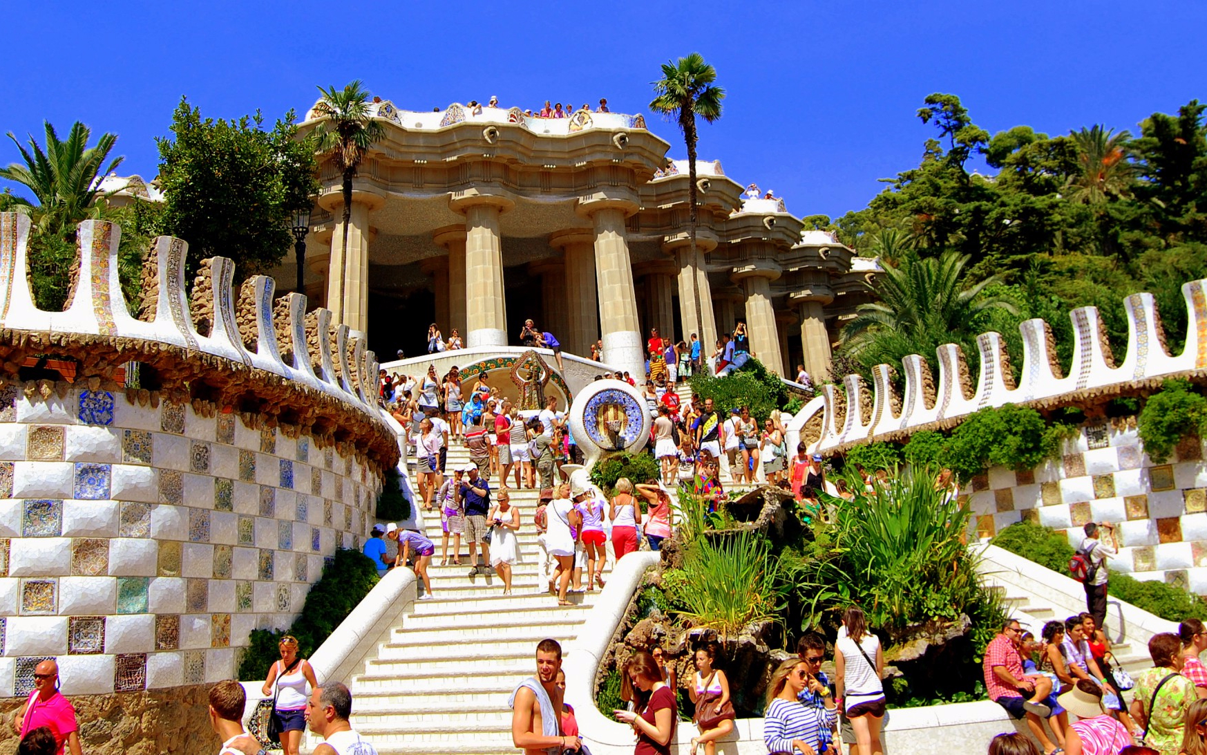 Park Guell Dragon Stairway