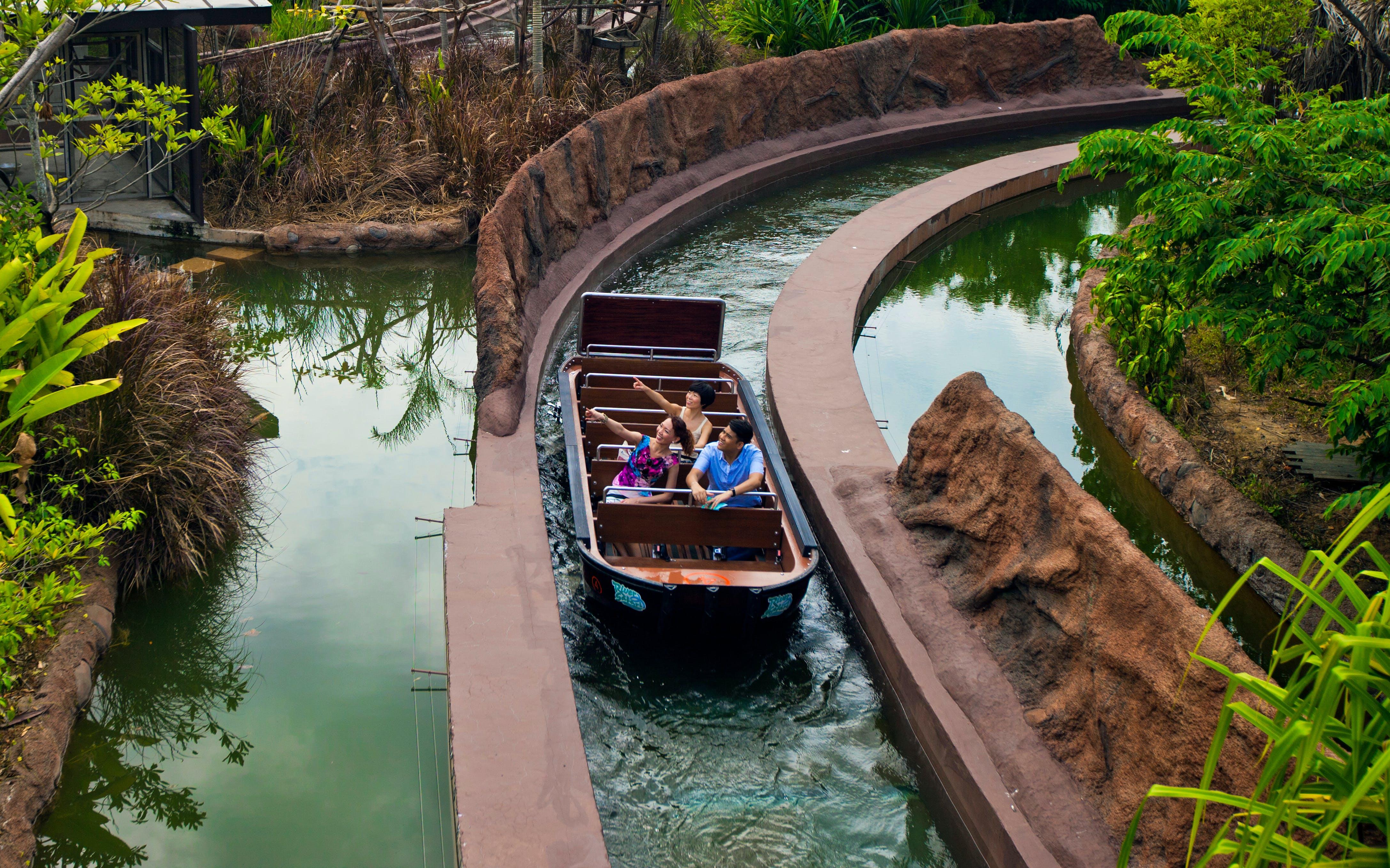 River Safari Singapore: River Safari Tickets with 2 Boat Rides