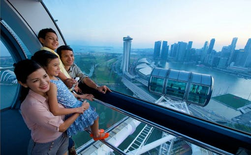 Singapore Flyer Night Discovery with River Boat Tour & 1 Day Hopper Pass