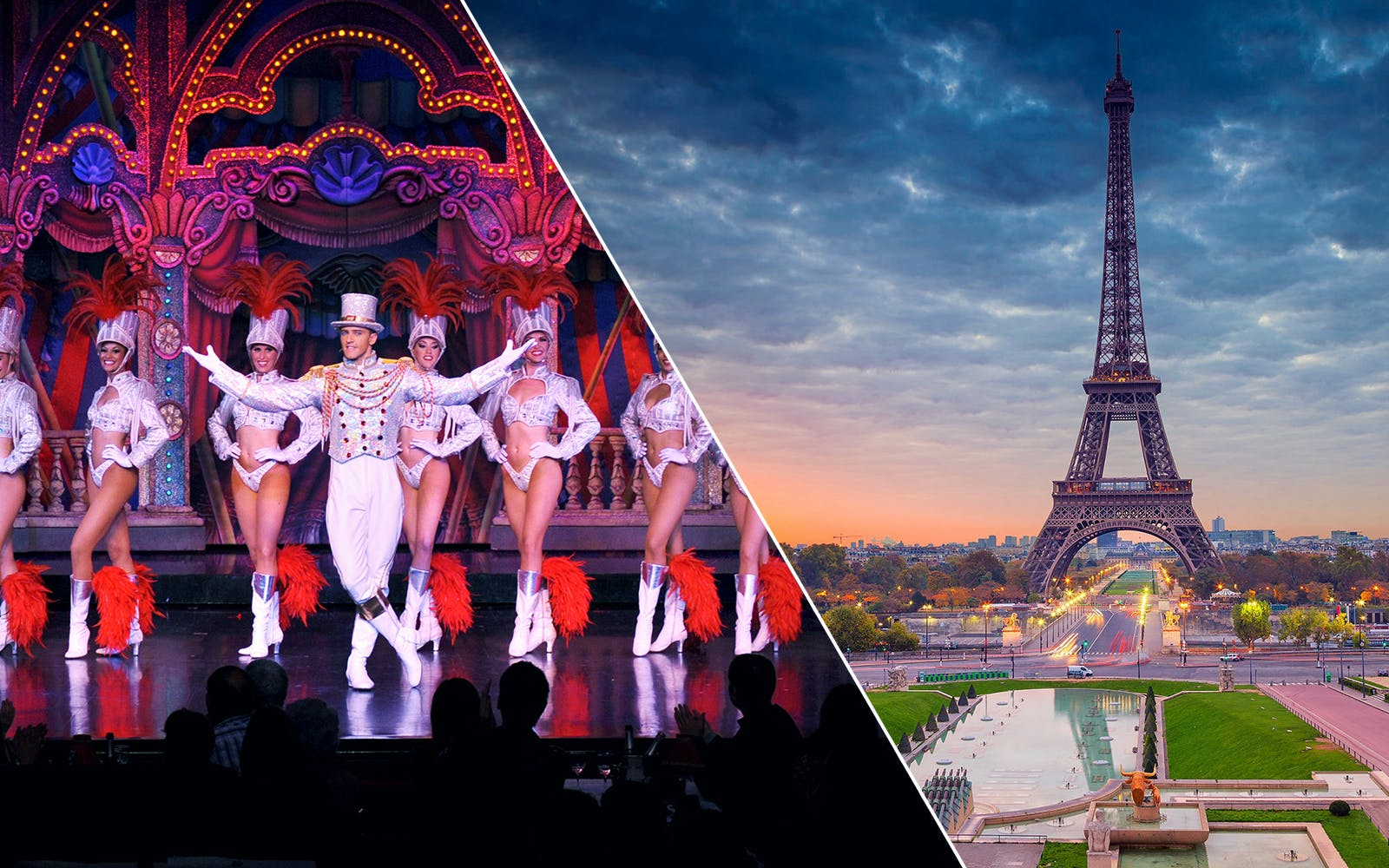 la marina dinner cruise, eiffel tower by night and moulin rouge show + transfers-1