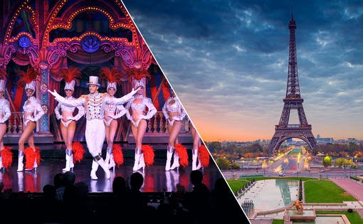 La Marina Dinner Cruise, Eiffel Tower by Night and Moulin Rouge Show + Transfers