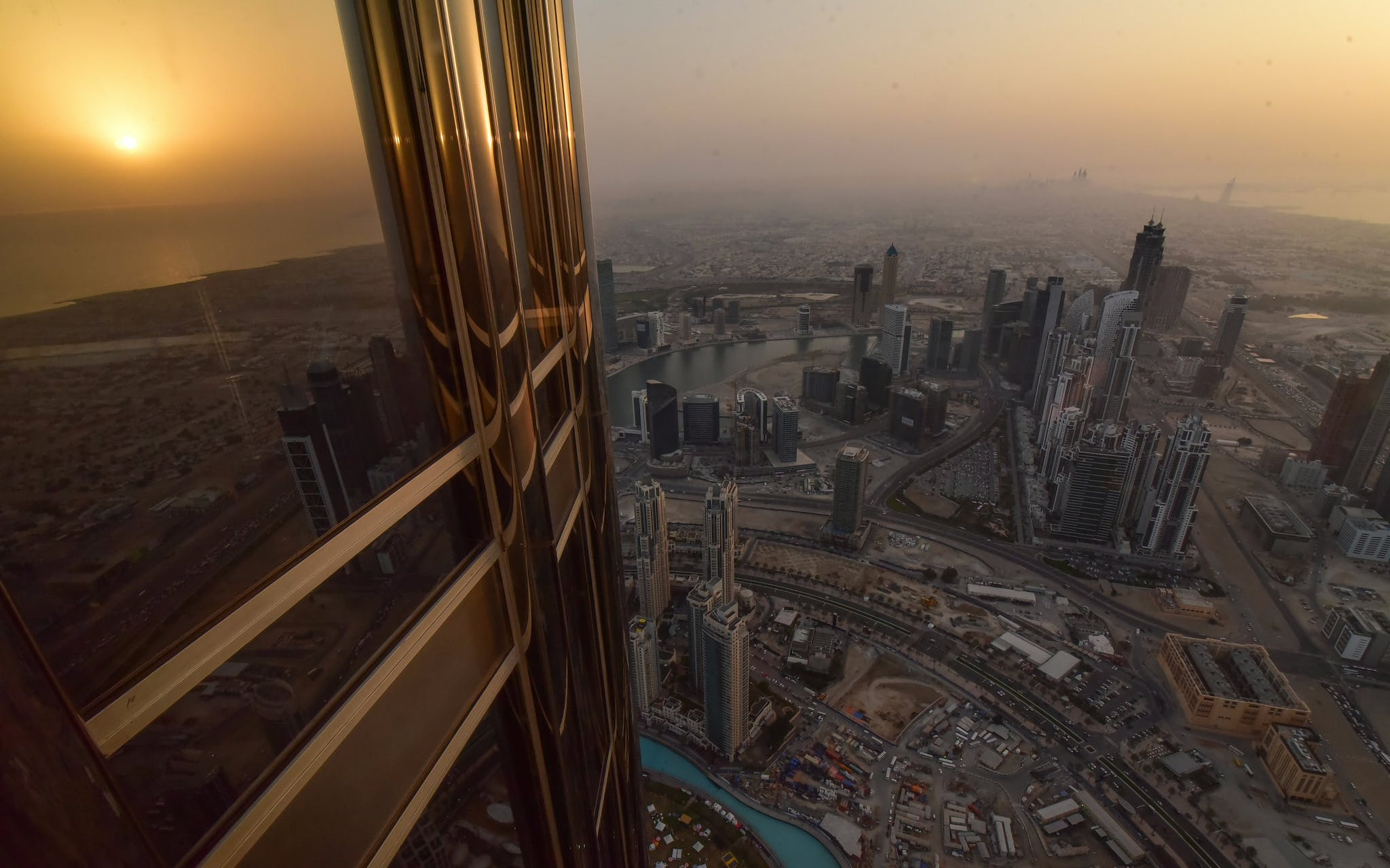 burj khalifa: at the top (level 124 & 125) with creek park exotic bird show -3