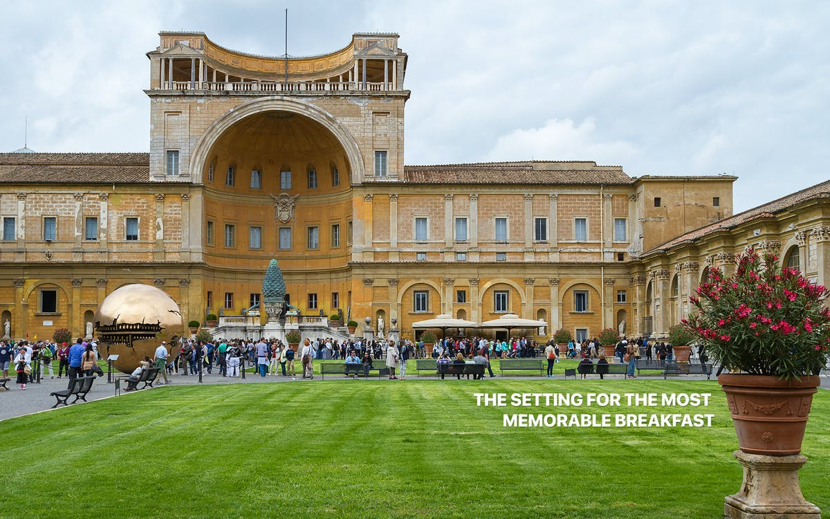 breakfast/lunch at vatican museums with skip the line entrance-3