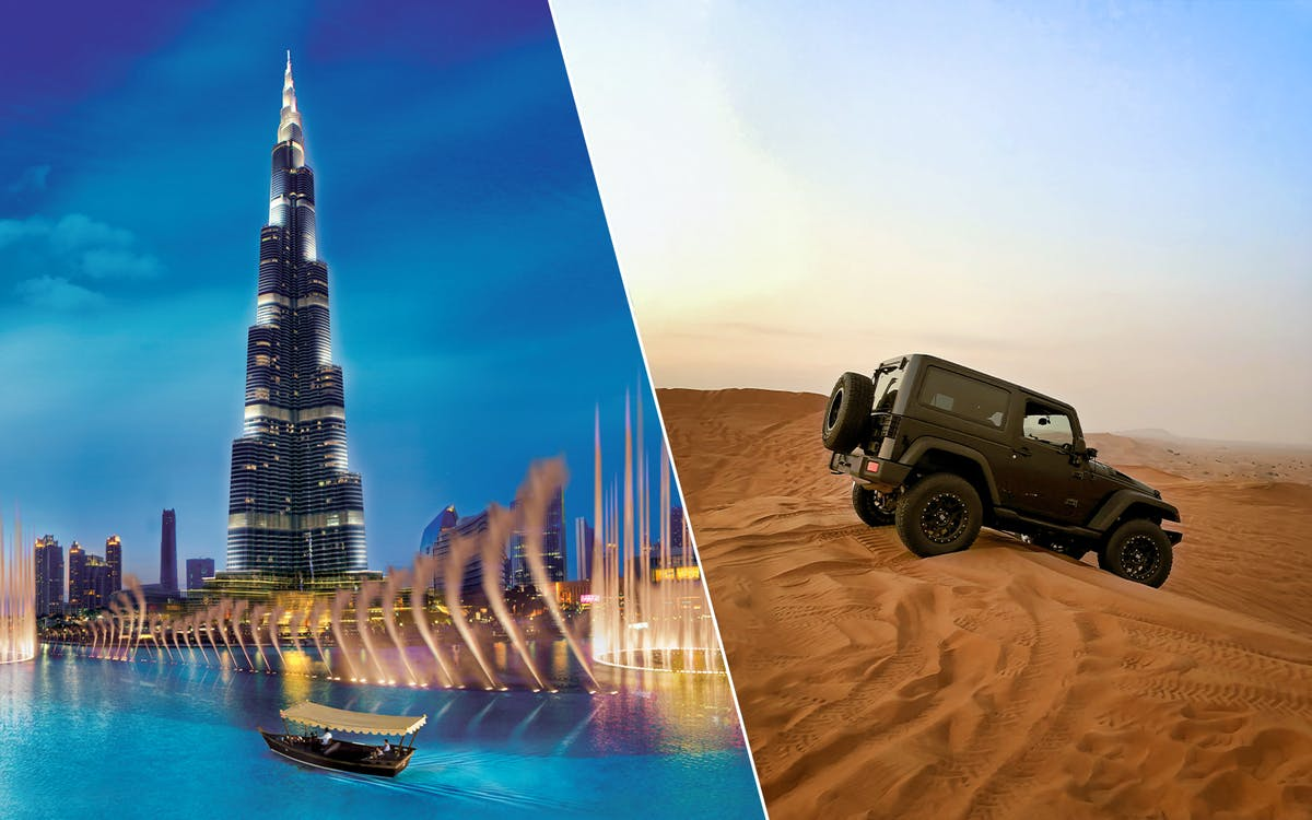 2 day combo: burj khalifa + dubai aquarium + desert safari + dhow dinner cruise-1