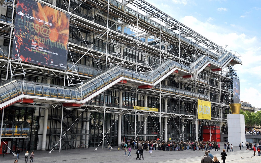 centre pompidou priority entrance