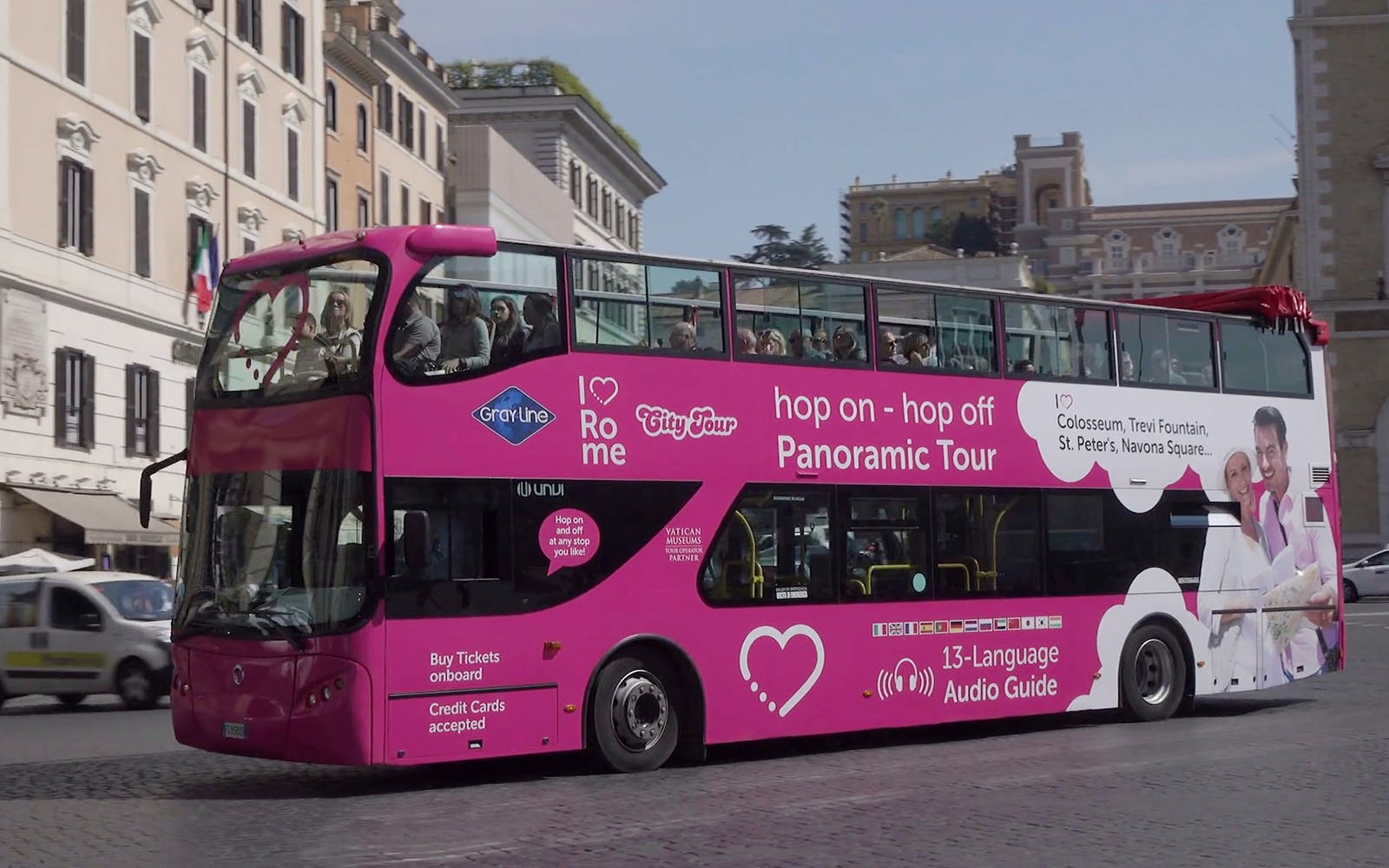 Hop-On Hop-Off Bus + Skip-the-Line Vatican Museums & Sistine Chapel Tickets