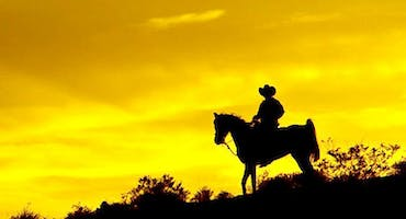 Wild Wild West - Horse Ride Into Sunset