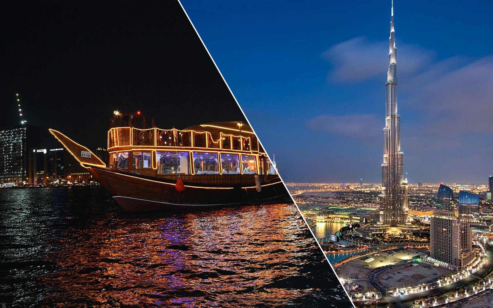 dubai city tour + dhow dinner cruise in creek combo-1