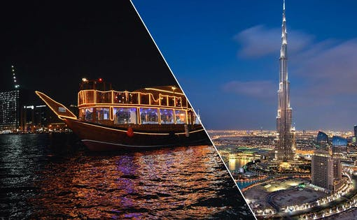 Dubai City Tour + Dhow Dinner Cruise in Creek Combo