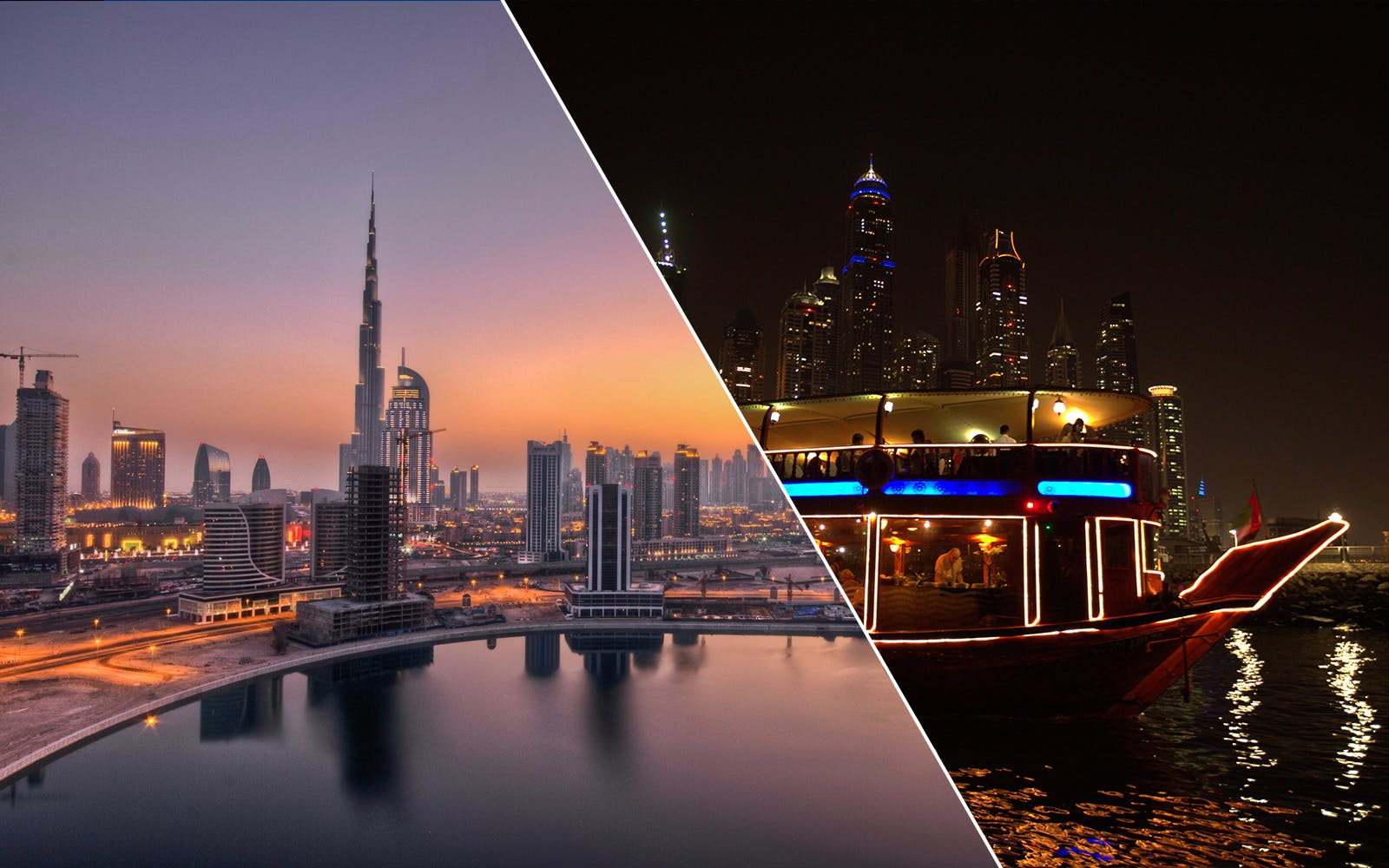 dubai city tour + dhow dinner cruise in marina combo-1