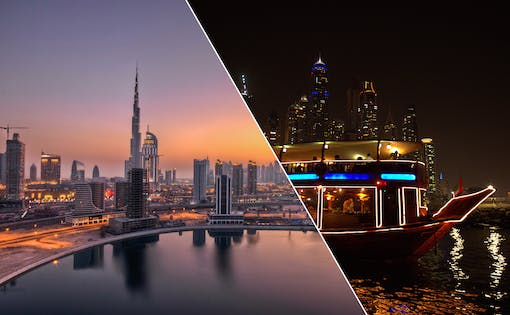 Dubai City Tour + Dhow Dinner Cruise in Marina Combo