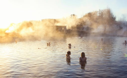 Secret Lagoon Goethermal Bath with Northern Lights & Dinner
