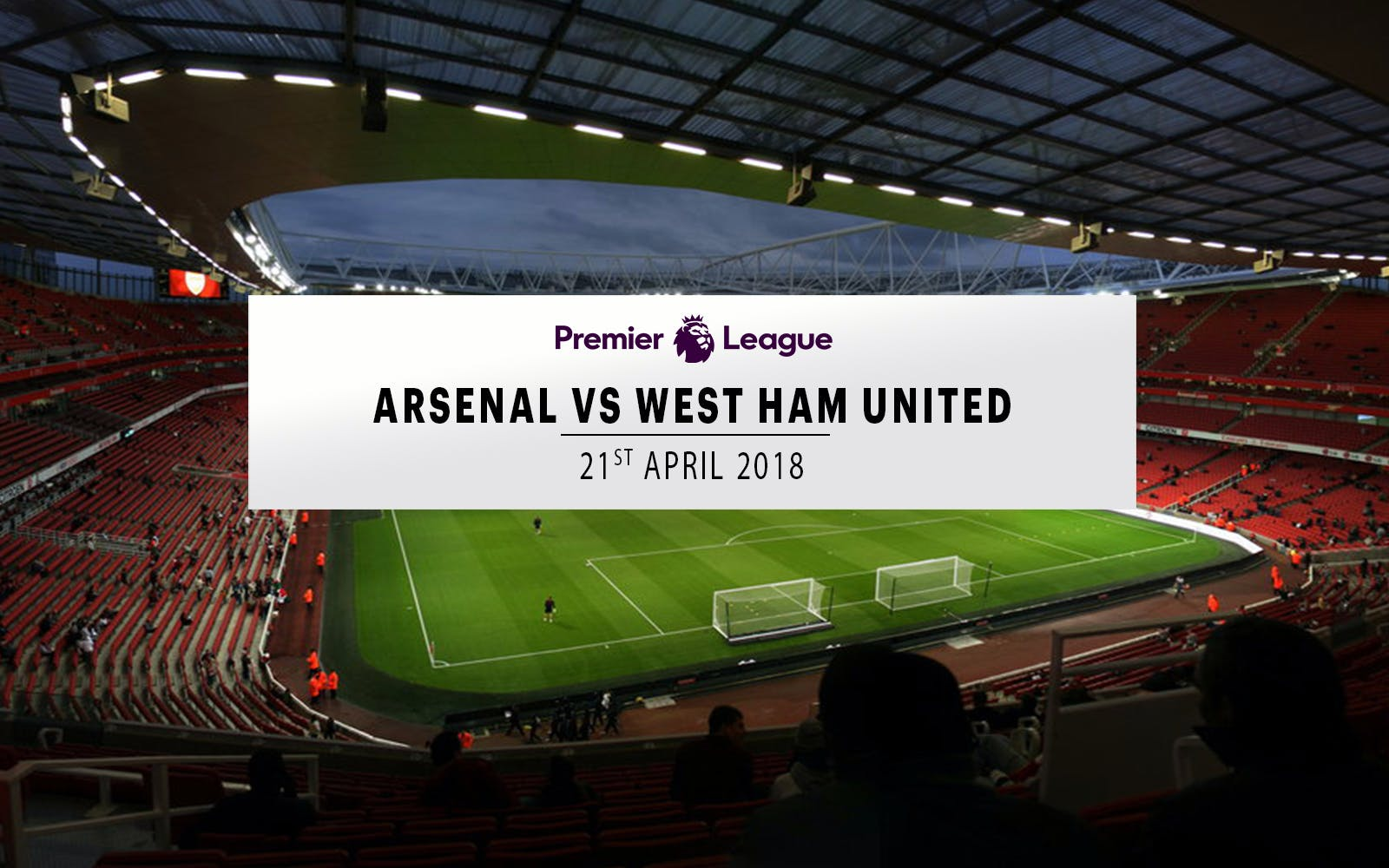 arsenal vs west ham united - 21st april 2018 -1