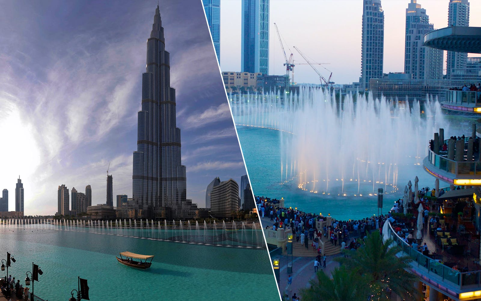 Burj Khalifa + Dubai Fountain Boardwalk