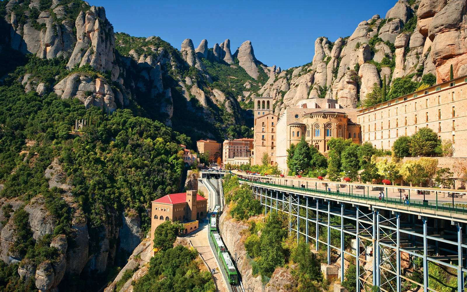 montserrat day trip from barcelona with cog wheel train ride-1