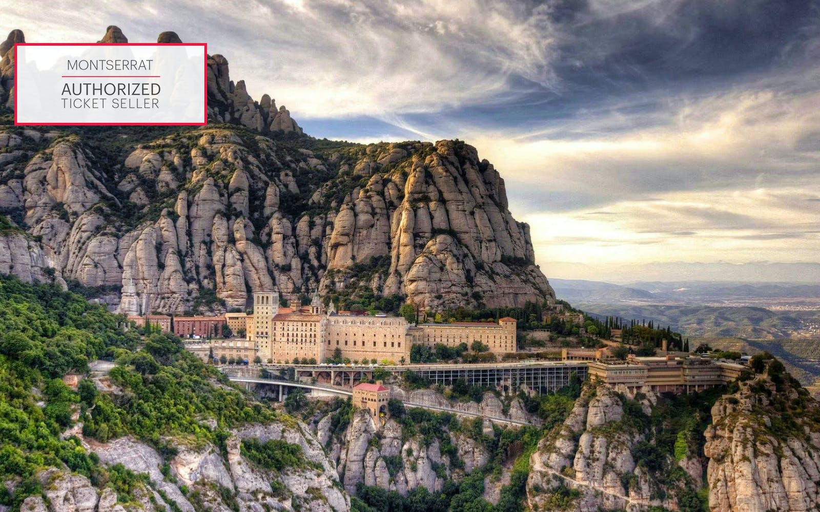 From Barcelona: Montserrat Monastry + Train Tickets