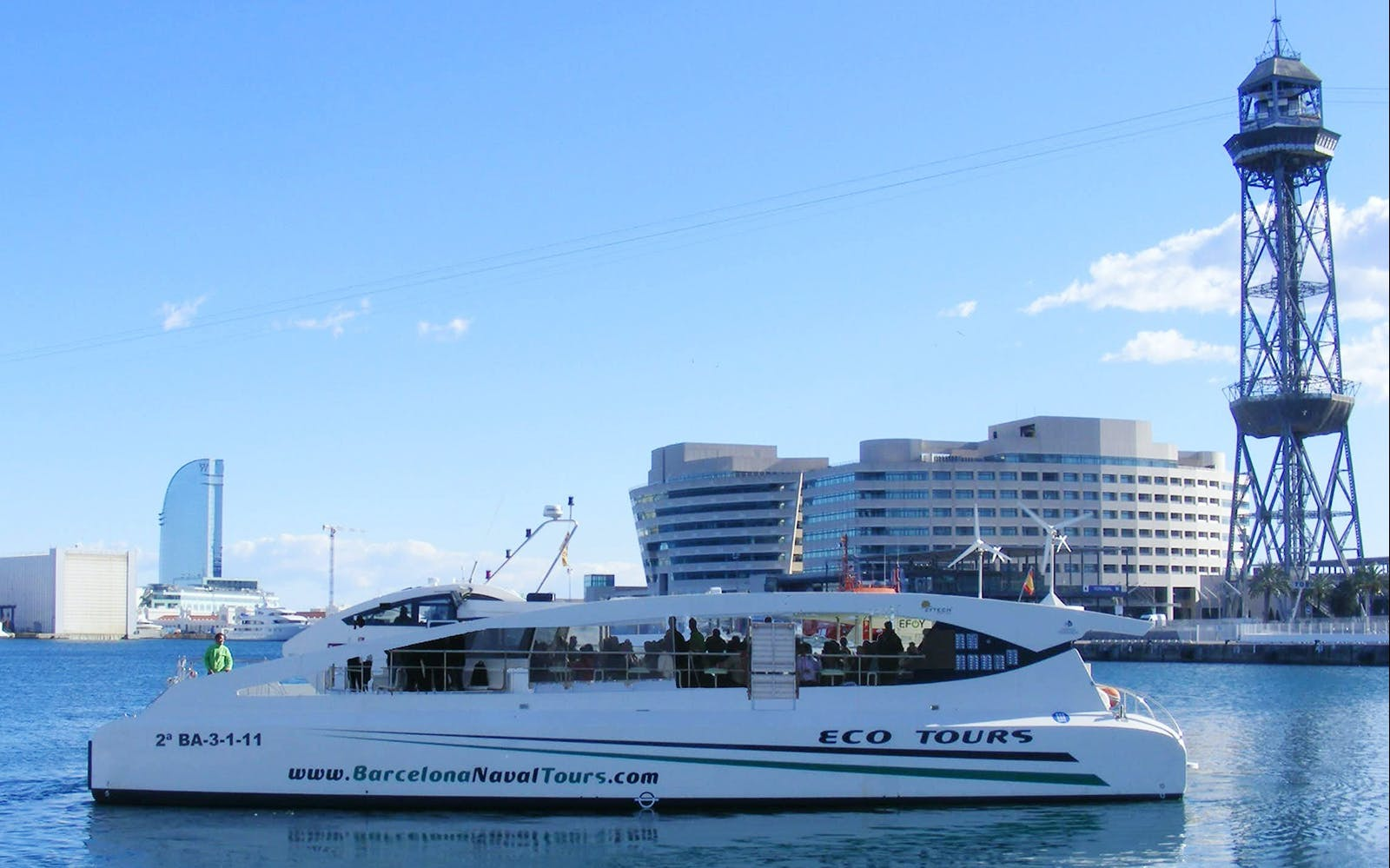 barcelona by land & sea - hop on-hop off + skyline boat tour-2
