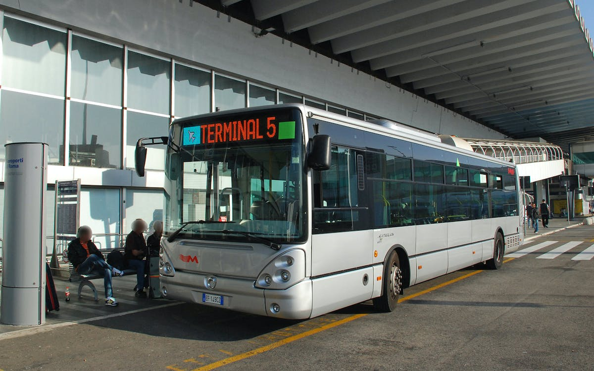 fiumicino airport: shuttle bus to/ from rome city center-1