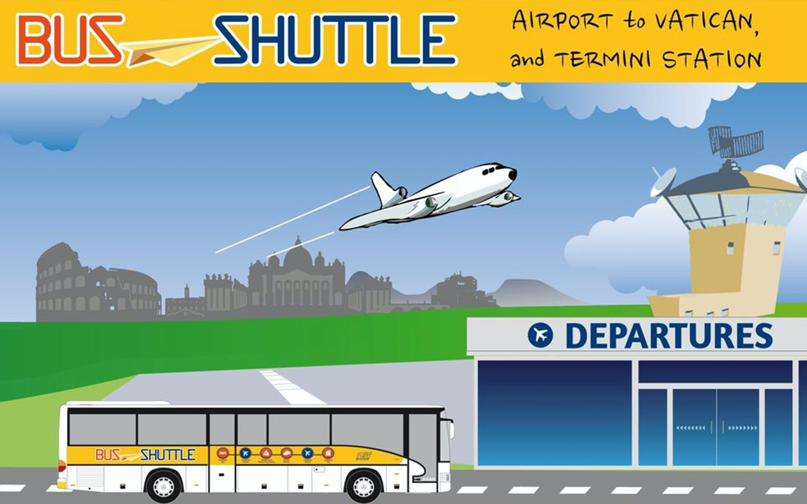Ciampino Airport: Shuttle Bus to/ from Roma Termini