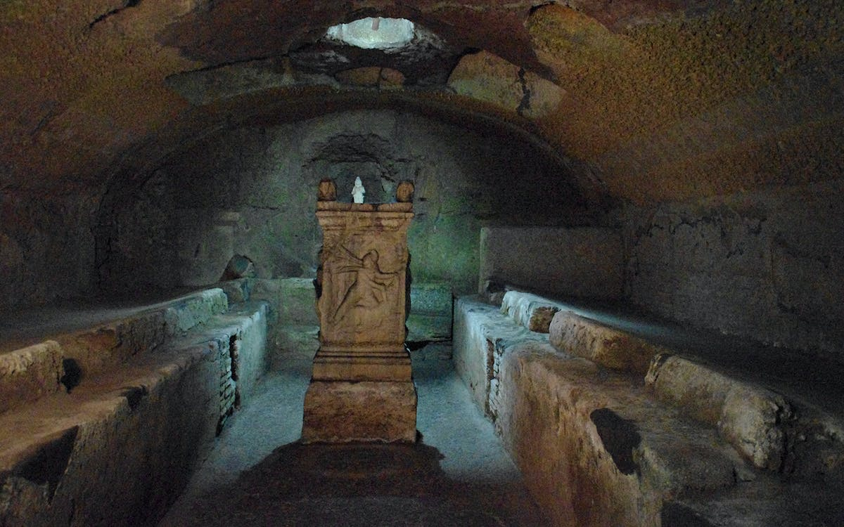 catacombs of domitilla, appian way and san clemente underground tour-1
