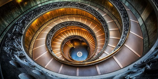 vatican museums staircase - sistine chapel tickets