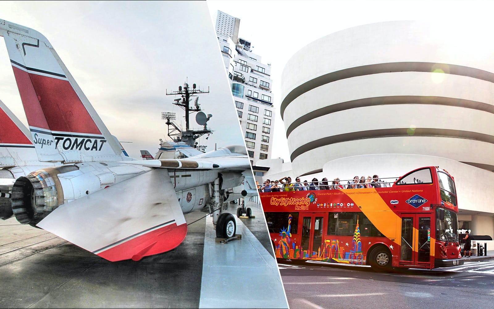 Skip the Line Access to Intrepid Museum & Hop On Hop Off Combo