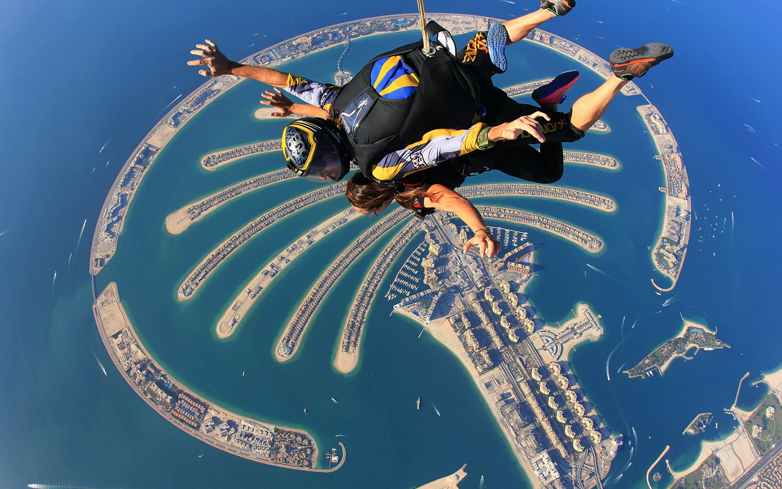 Dubai skydiving - palm drop zone