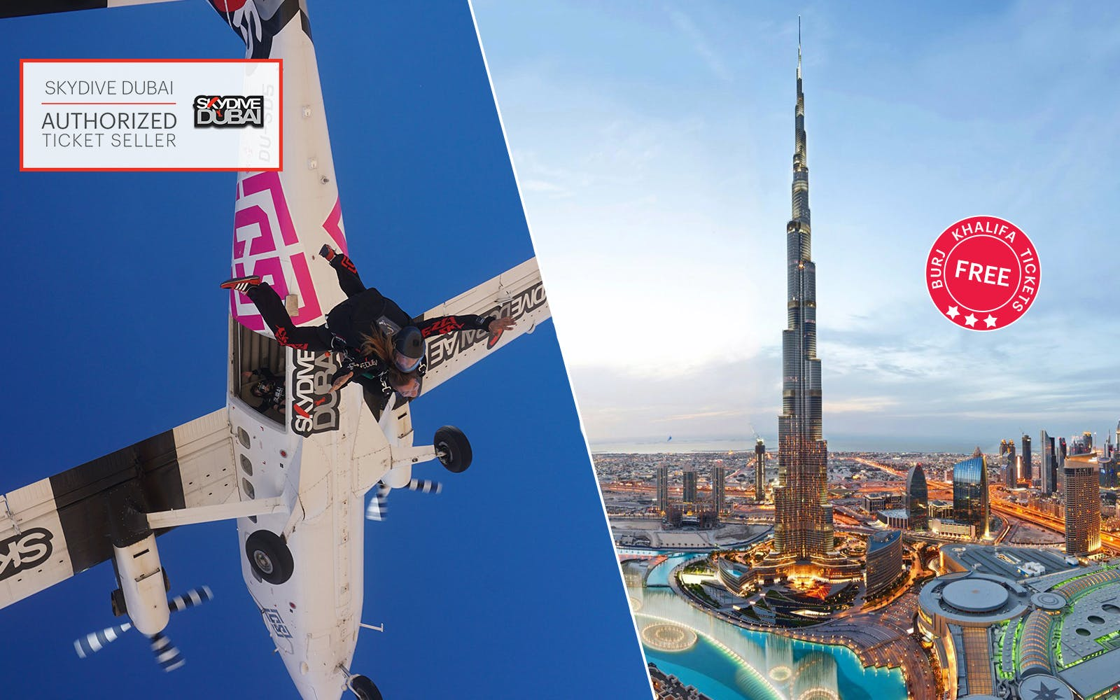 SkyDive Dubai: Tandem Skydiving at Desert Campus Drop Zone + Free Burj Khalifa