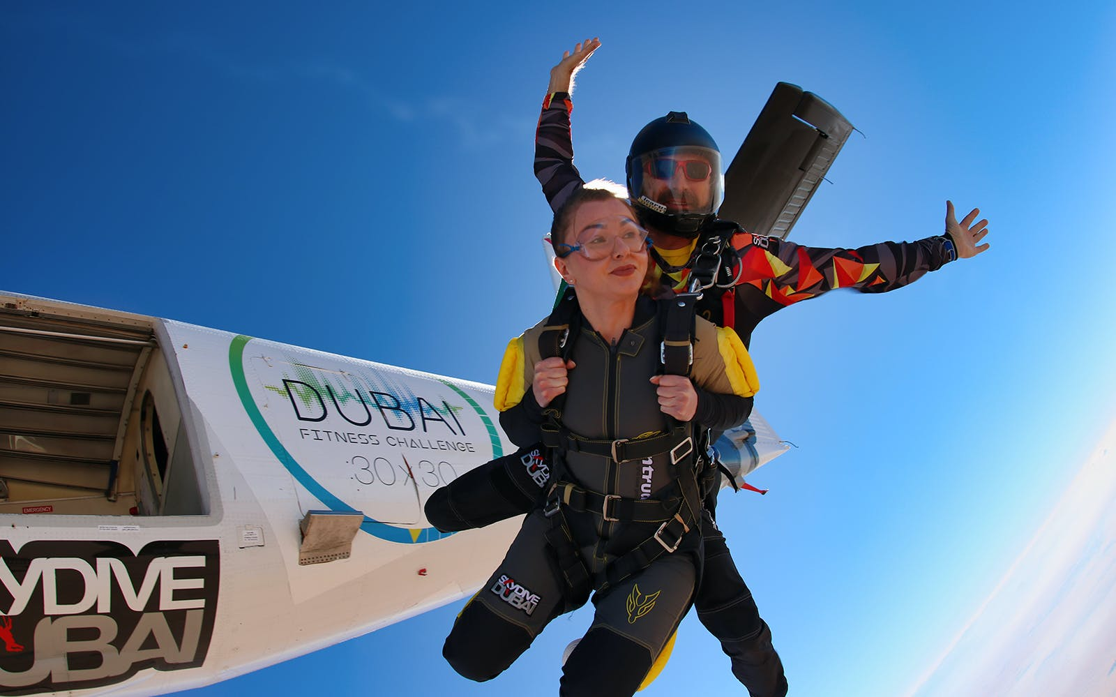 SkyDive Dubai: Tandem Skydiving at Desert Drop Zone + Free Burj Khalifa OR Desert Safari