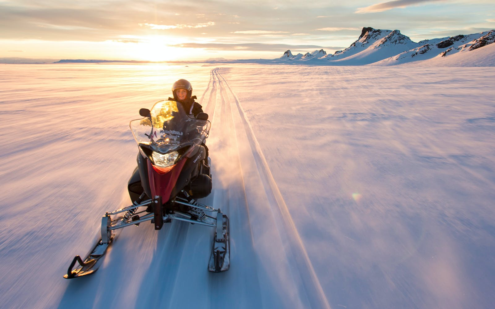 Golden Circle Tour with Langjokull Glacier Snowmobile Ride