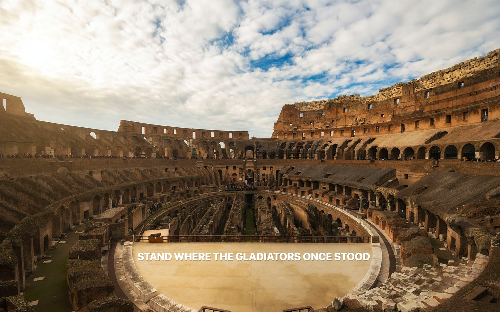 skip the line guided tour of colosseum with arena access, roman forum & palatine-5
