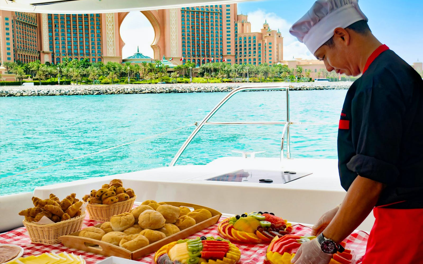 luxury yacht guided tour with food - dubai marina-5